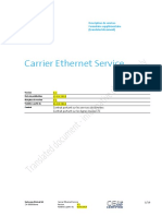 Carrier Ethernet Service CES Description de La Performancev3 2fr