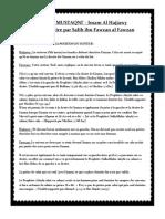Zad Al Mustaqni Chap.21 Section 2 La Position Du Suiveur