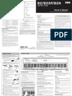 Korg b2 Manual