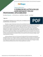 Fundamentos Teóricos de La Ética en Los Diversos Núcleos Sociales y en Las Profesiones. Aplicabilidad - Trabajos - Mariesufia