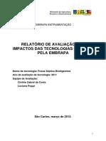 Relatório avaliação impacto fossas sépticas