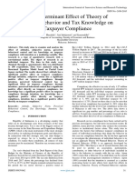 The Determinant Effect of Theory of  Planned Behavior and Tax Knowledge on  Taxpayer Compliance