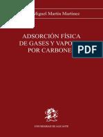 Adsorción física de gases y vapores