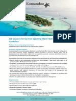 Vacancy Ad - Island Host - German Speaking - 161119