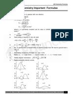 JEE CHemistry Formulas