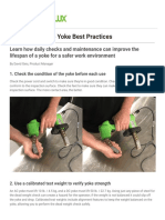 5-Point Guide to Yoke Best Practices