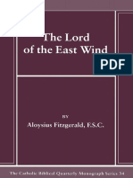 34. the Lord of the East Wind the Catholic Biblical Qu