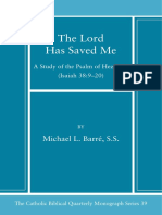 39. the Lord Has Saved Me a Study of the Psalm of Heze
