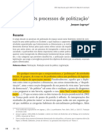 Os Processos de Politizacao