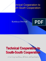Technical Cooperation to South-South Cooperation