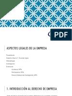LOS ASPECTOS LEGALES DE LA EMPRESA