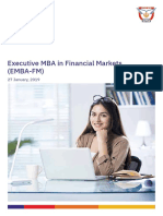 NSE Executive MBA Financial Markets Brochure