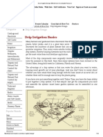 Drip Irrigation Design, Efficient Use of a Valuable Resource