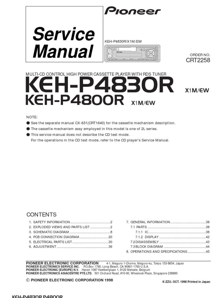 Pioneer Keh-p4830r,4800r Sm