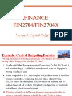 Fin2704 Lecture 8
