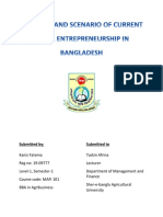 PROSPECT AND SCENARIO OF CURRENT RURAL ENTREPRENEURSHIP IN BANGLADESH