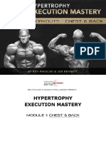 Hypertrophy Execution Mastery - Module 1 Workouts - Chest Back