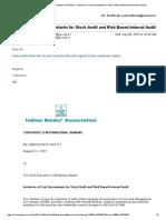 IBA Stock Audit