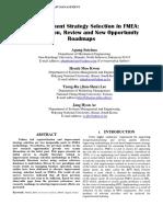 Improvement Strategy FMEA