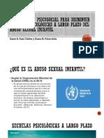 Secuelas Psicológicas a Largo Plazo Del Abuso Sexual- FINAL