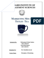 Report - Marketing Mix of Tetley Clover Final