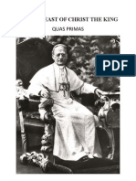 Quas Primas by Pope Pius Xi on the Feast of Christ the King