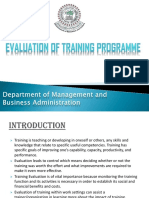 Evaluation of Training Programme