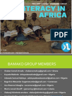Illiteracy in Africa - Bamako Group