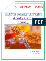 Analysis of Honey