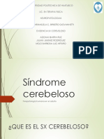 Síndrome cerebeloso