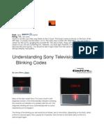Sony Blinking Codes