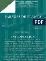 Paradas Planta Ppt