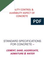 3.Quality Control in Concrete & Durability