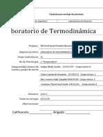 Práctica 2 Termodinámica Temperatura FI UNAM.