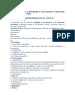 Esquema Formulación de Proyectos de Investigación e Innovación Tecnológica