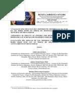 Avaliação Dos Impactos Dos Critérios de Distribuição Do Icms Da Lei Robin Hood No Índice de Desenvolvimento Humano Municipal Em Minas Gerais