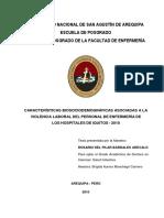 Características biosociodemográficas