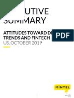 Attitudes Toward Digital Trends and Fintech - US - October 2019 - Executive Summary