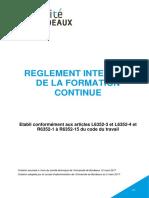 IAE règlement