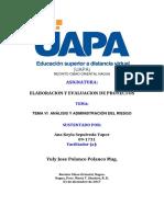 Tema Vi Análisis y Administración Del Riesgo