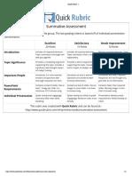 edsc 304 - summative assessment rubric