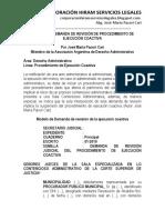 Modelo Demanda Revisión Procedimiento Ejecución Coactiva - Autor José María Pacori Cari