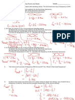 Physics 2204 Worksheet (Standing Waves and Beats Answers2)