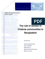 The Role of Women in Chakma Community