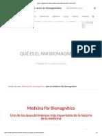¿Qué es Medicina Par Biomagnético desarrollada por el Dr. Goiz Durán_