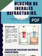 Disolución de Minerales Refractarios Dianitas (1)