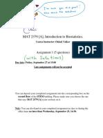 MAT2379 HW1 Solutions