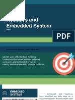 Embedded Systems andd Robotics