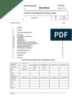 DR 10.01 Instructions for Non-Destructive Testing of Welds REV 05 2011-07