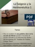 Exegesis y la hermeneutica